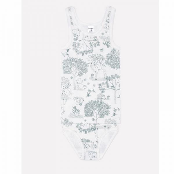 Комплект для девочки, сказочный лес на сахаре, К 1064