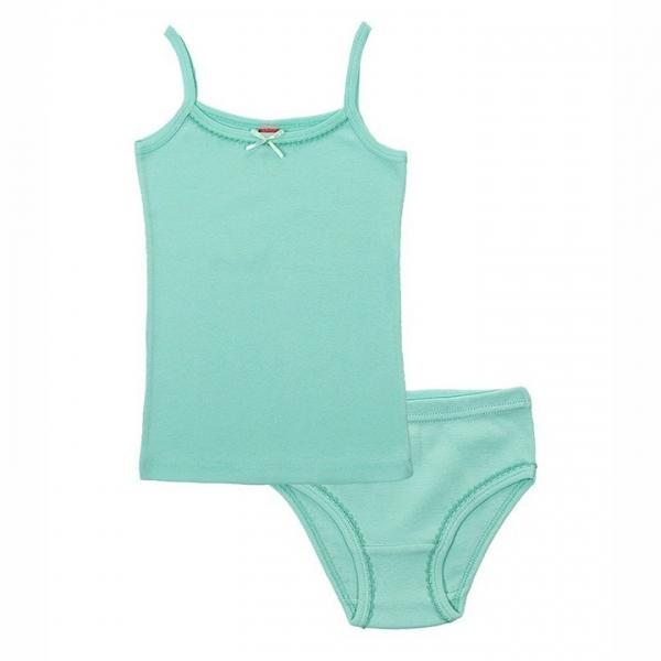 Комплект для девочки, светло-бирюзовый, CAJ 3342
