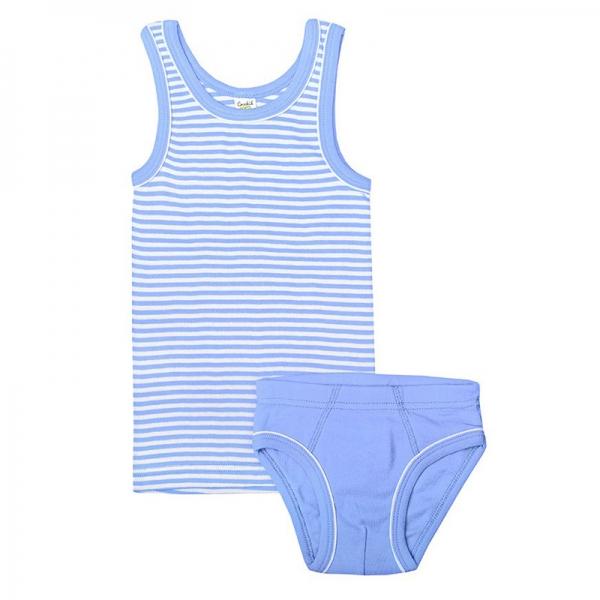 Комплект для мальчика, полоска+васильково-синий, К 1100