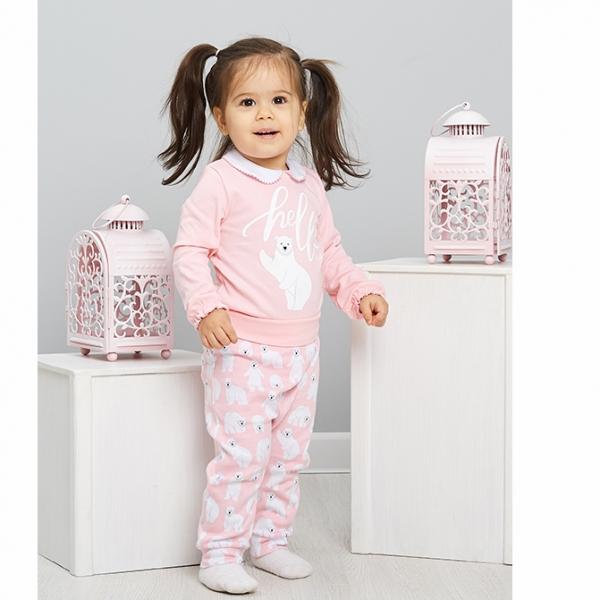 Коплект ясельный, розовый мишки, 402-004-11701 UMKA