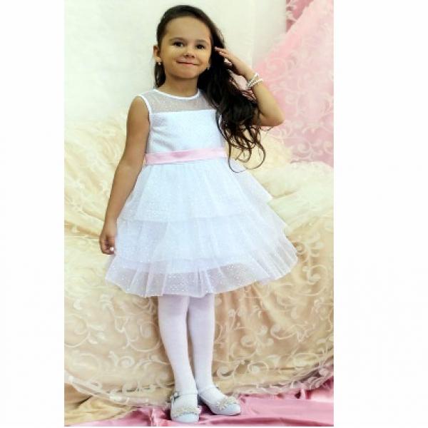 Платье для девочки, сетка, м.42
