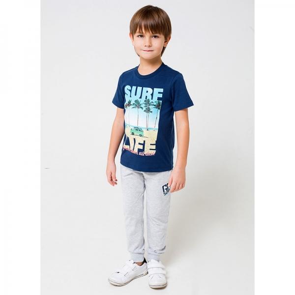 Брюки для мальчика, серо-голуб.меланж к1245, К 4725