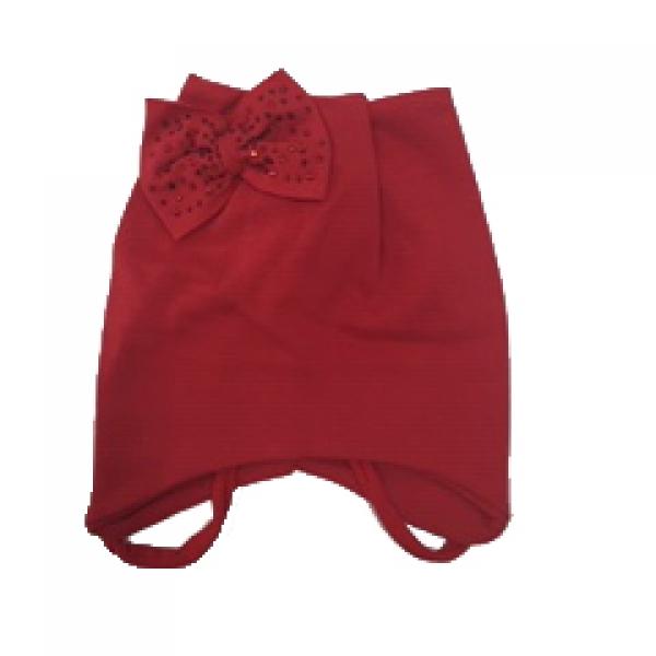 Шапка ясельная, красная, *FT-61-28