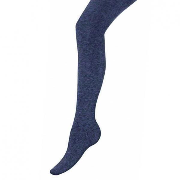 Колготки для девочки, джинс меланж-37, K1