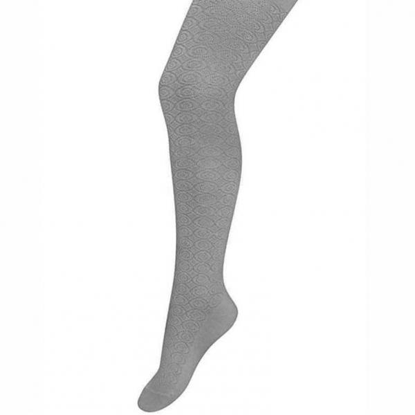 Колготки для девочки, серый-53-1, K2D4