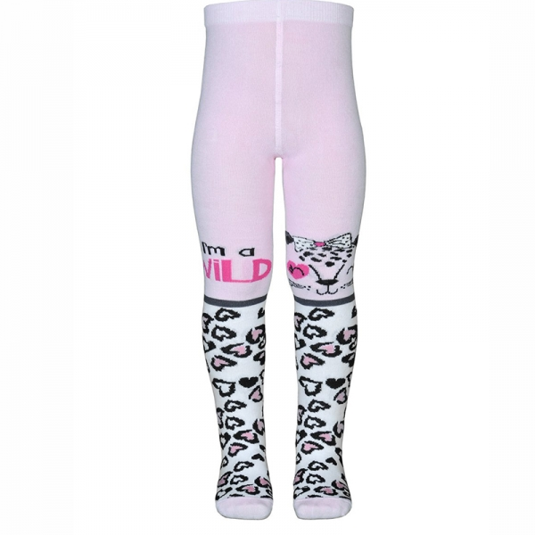 Колготки, розовый, КР-м170 рис леопард