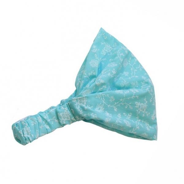 Косынка для девочки, голубой, АРТ.10107