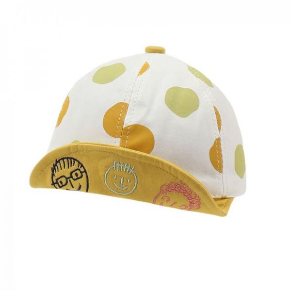Бейсболка для девочки, горох желтый, АРТ.30024