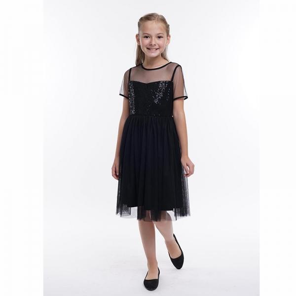 Платье для девочки, чёрный, 794401/49емп