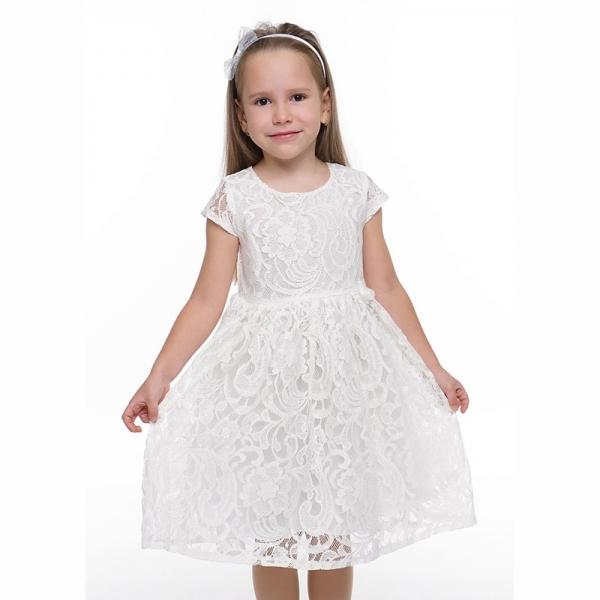 Платье для девочки, молочный, 872534кр