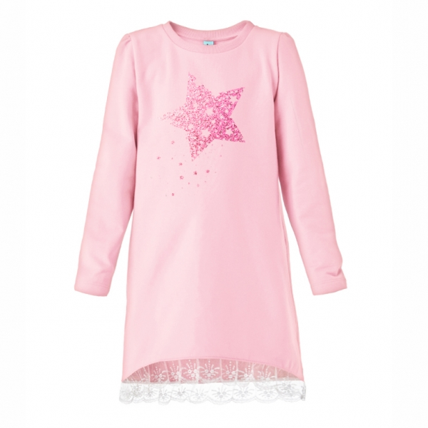 Платье для девочки, нежно-розовый, 891.012.542