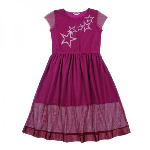 Платье для девочки, вишневый, CAJ 61952