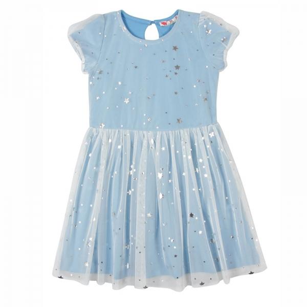 Платье для девочки, голубой, CAK 62213