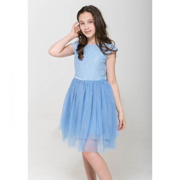 Платье для девочки, голубой, CAJ 61686