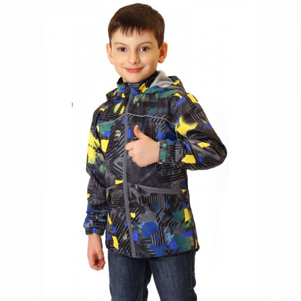 Куртка для мальчика, т.серый/желтый, 839м
