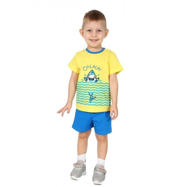 Пижама, ярко-синий+лимон, М2270-5848