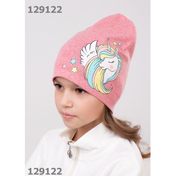 Шапка детская, 811395/1рп меланж розовый
