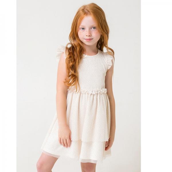 Платье для девочки, белая лилия к285, КР 5680