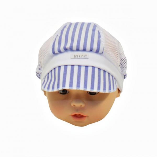Кепка детская, голубая полоска, Арт. 10031