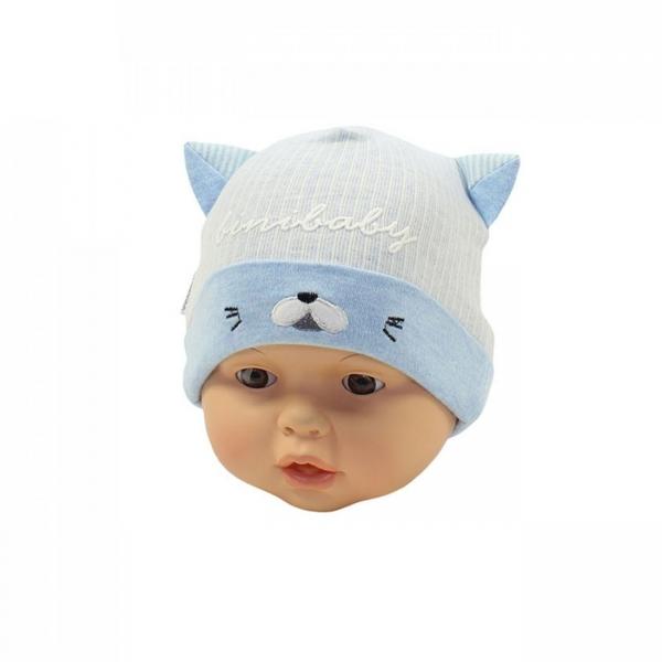 Шапка детская, голубая, Арт. 70132