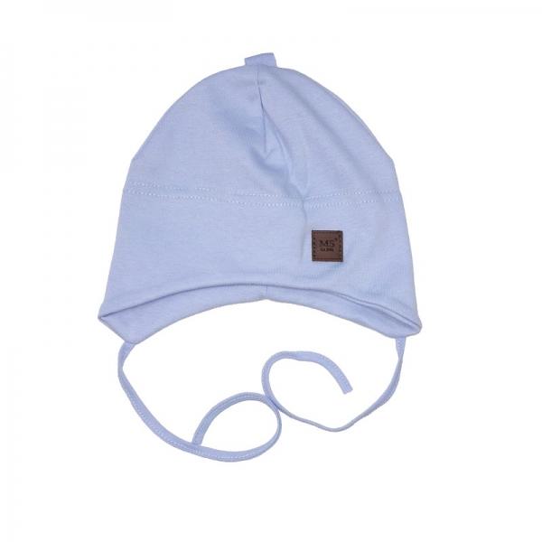 Шапка детская, голубая, Арт. 7089