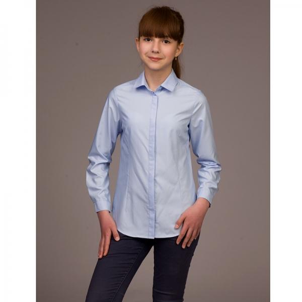 Блузка для девочек, длинный рукав, голубой, B15-904d (6111)