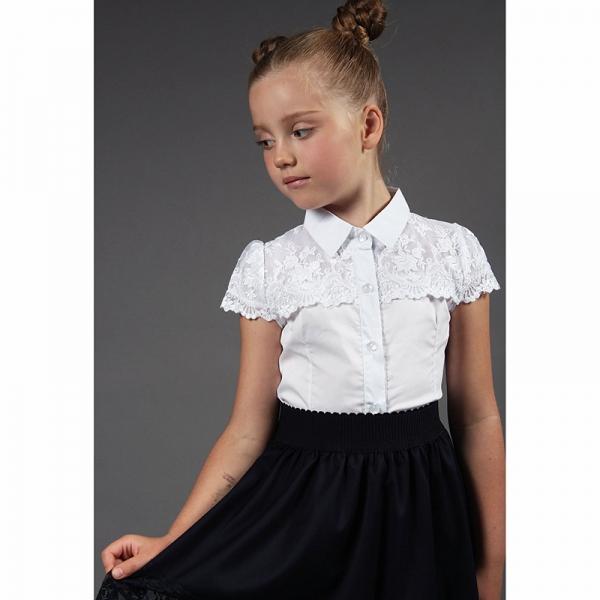 Блуза короткий рукав, Белый, S 169 А