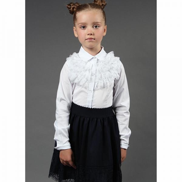 Блуза длинный рукав, Белый, 6739