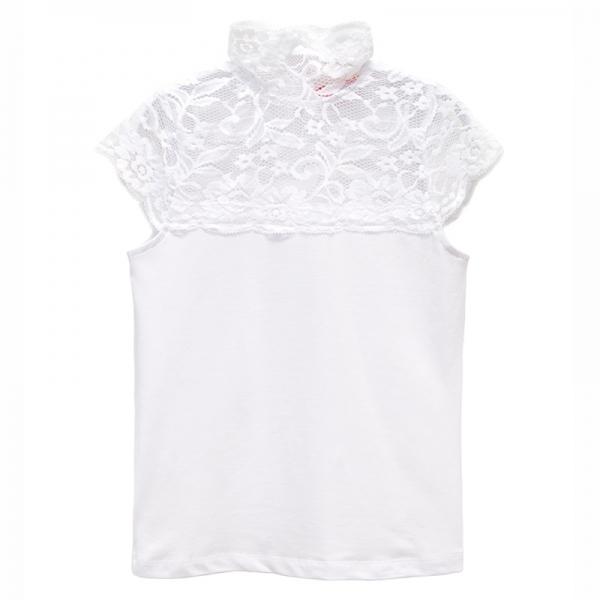 Блузка для девочки, белый, 6117