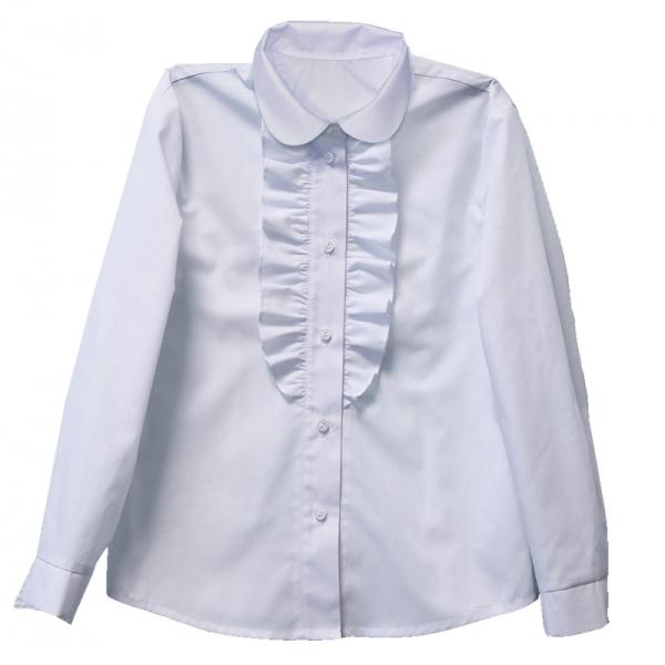 Блузка для девочки, белый, ШФ 0060