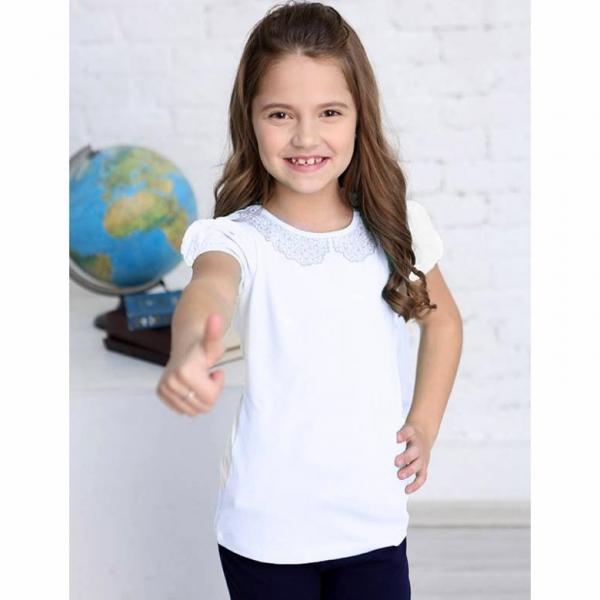 Джемпер для девочки, белый, CAJ 62155