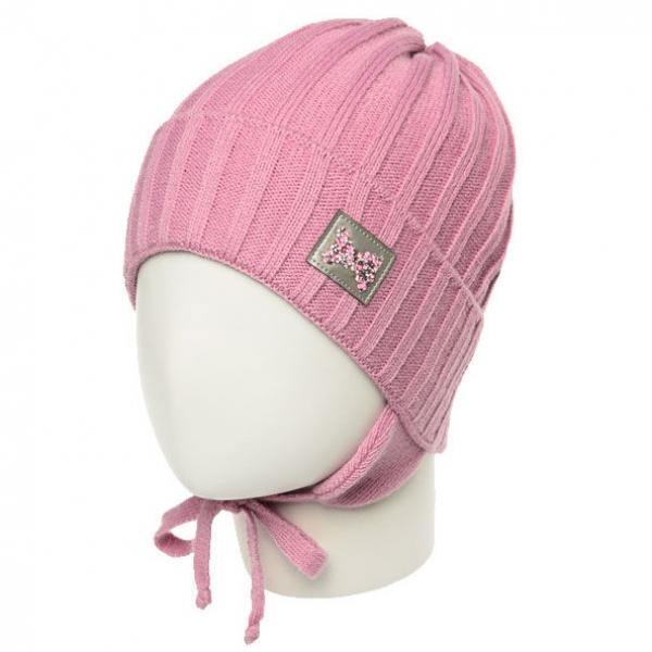 Шапка для девочки, розовый, Ku474