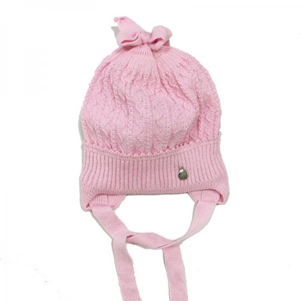 Шапка для девочки,  розовый, 2002