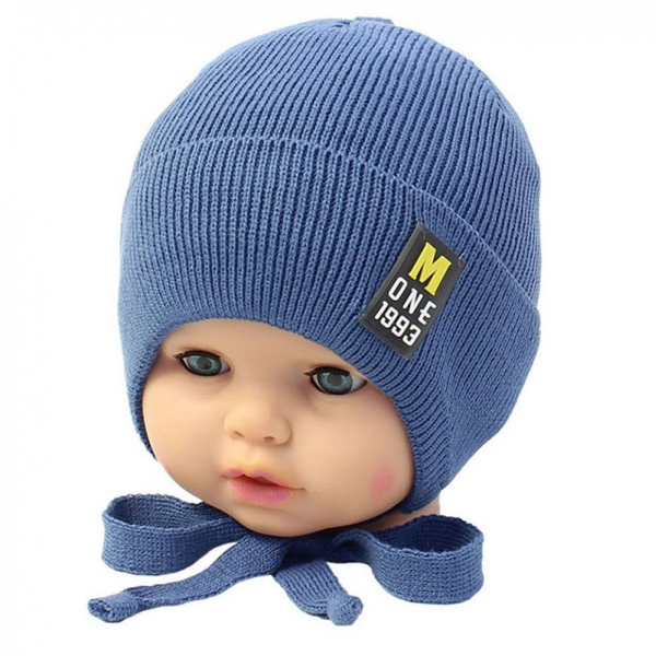 Шапка для мальчика, синий, Арт. 20104