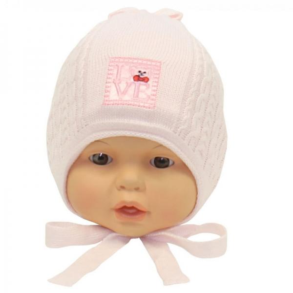 Шапка для девочки, розовый, Арт. 2052