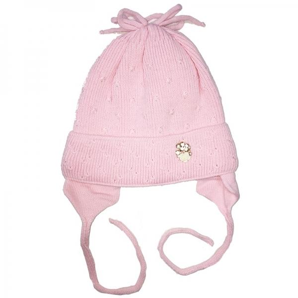 Шапка для девочки, розовый, Арт. 29103