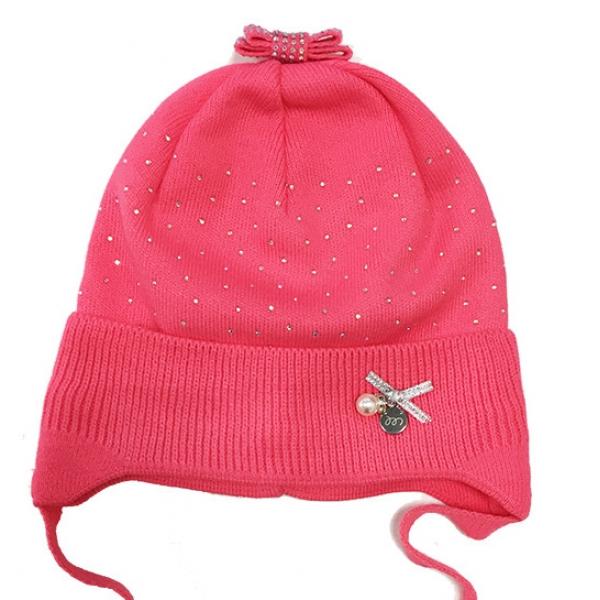 Шапка для девочки, яр.розовый, Арт. 29116