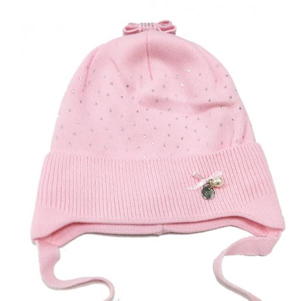 Шапка для девочки, розовый, Арт. 29116