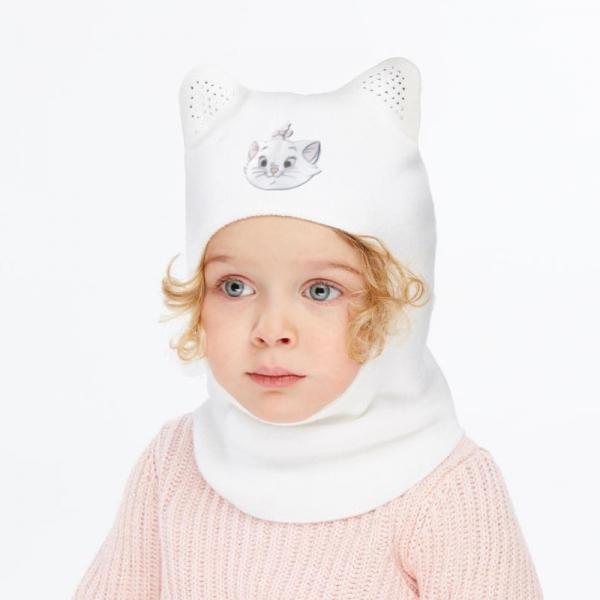 Шлем для девочки, белый, Арт.60125
