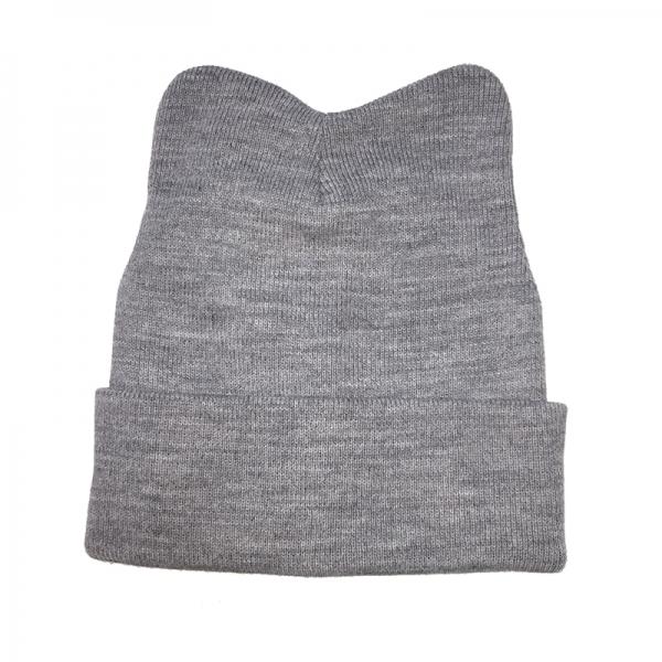 Шапка для девочки, св.серый, Арт.60259