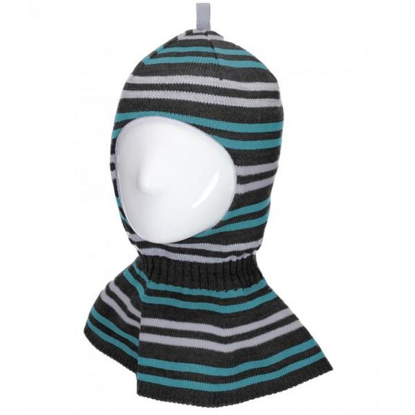 Шлем для мальчика, т.серый+сапфир, Арт.80461