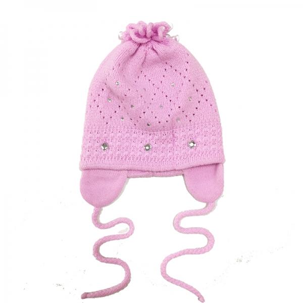 Шапка для девочки,розовый, 3768