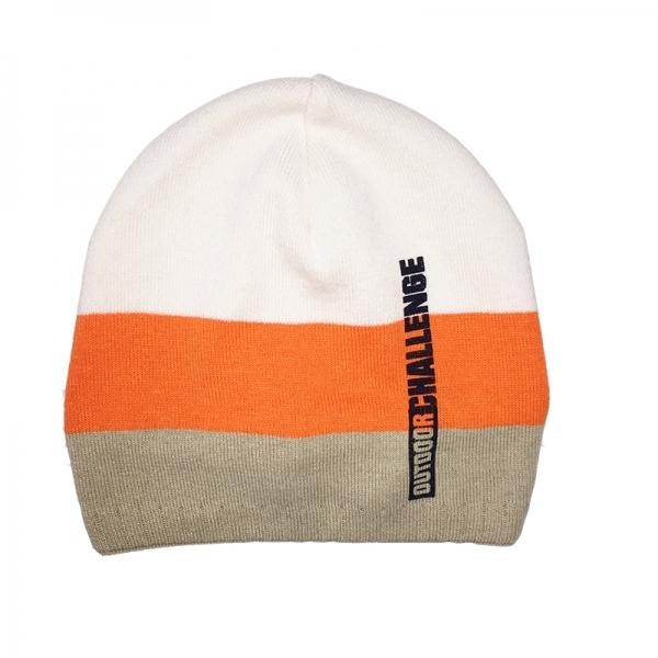 Шапка для мальчика, молочный,оранжевый, бежевый, UA 958/00