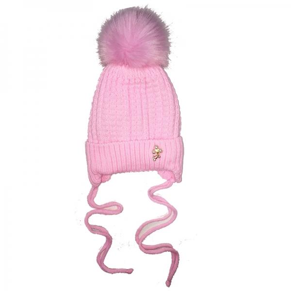 """Шапка для девочки, розовый, """"Бусинка"""" 0-12 814220"""