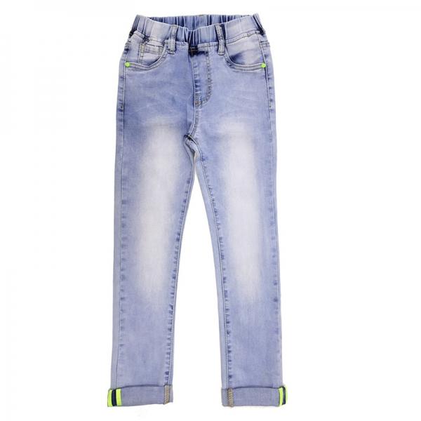 Джинсы для девочек, голубые, АРТ.9101