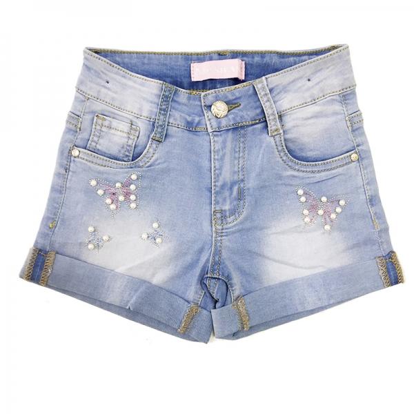 Шорты для девочек, голубые, АРТ.8605