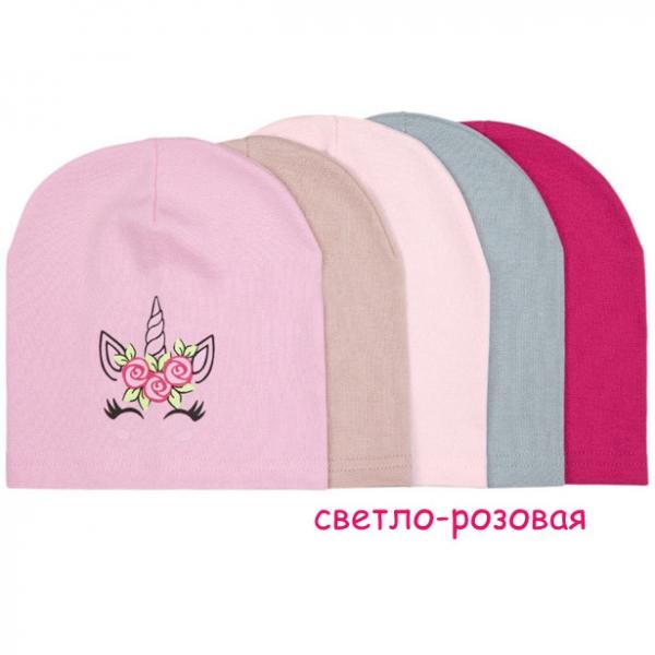 Шапка детская, светло-розовый, *FT-22-82