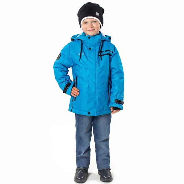Куртка для мальчика Микс, бирюзовыйпринт