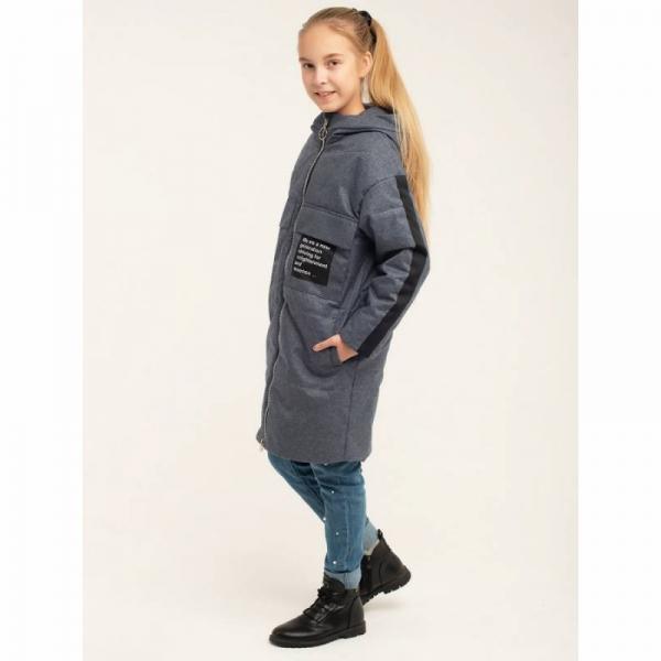 Пальтодля девочки Юна, серый, 657
