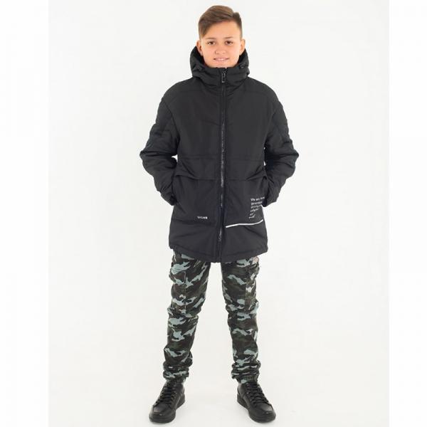 Куртка для мальчика Лео,черный, 4104